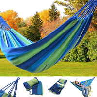 PORTABLE DOUBLE SIZE PURE COTTON ROPE HANGING HAMMOCK SWING CAMPING COTTON BED.