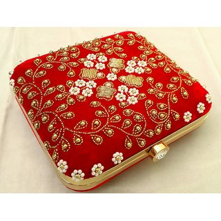 Handicraft Fashion Item Clutch For Womens (red)
