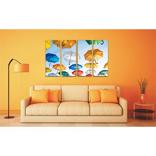 Esfore Contemporary  Stylish Printed Artwork/Painting - Colorful Umbrellas