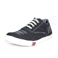 Blue Pop Men Black And White Lace-up Casual Shoes