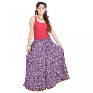 Shree Fashion Art Ethnic Multi Floral Pure Cotton Skirt