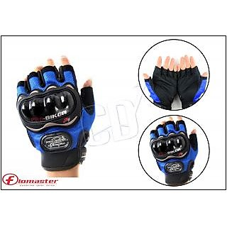 Probiker- Blue Probiker Half Hand Premium Biking Golves