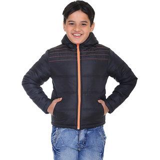 Kids Black Polyester Jacket