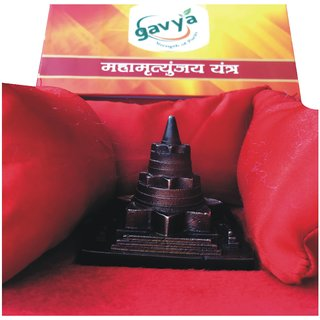 3d Metalic Shri Maha Mrityunjaya Yantra