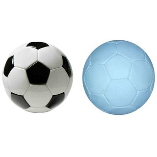Facto Power model : (1771) BLACK AND WHITE Football in 5 no. size with Facto Power Model : (1771) Black and White Gorgeous P.V.C Football in 5 No. Size