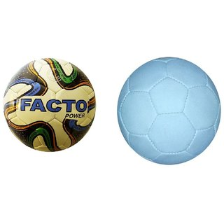 Facto Power model : (1881) BLACK AND WHITE Football in 5 no. size with Facto Power Model : (1881) Tri Color P.V.C Football in 5 No. Size