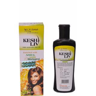 Gk Herbal Natural Organic Kesh Live Ayurvedic Oil -120 Ml