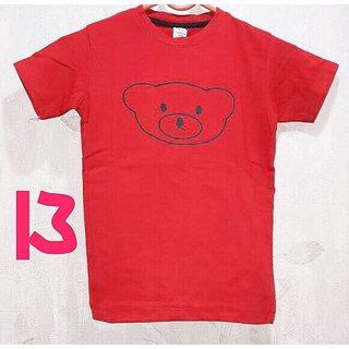 Cell Art's Caramel Round Neck Half Sleeve T-shirt For Men