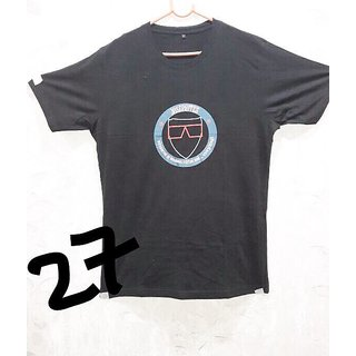 Cell Art's Gray Round Neck Half Sleeve T-shirt For Men