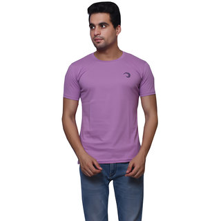 Oneliner Purple Round Neck Half Sleeve T-shirt For Men