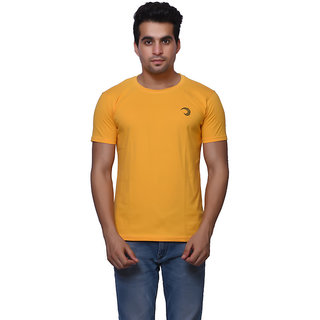 Oneliner Yellow Round Neck Half Sleeve T-shirt For Men