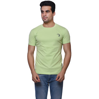 Oneliner Green Round Neck Half Sleeve T-shirt For Men