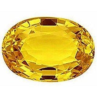 om gyatri 5.25 ratti Yellow Sapphire Ceylon Mined Pukhraj