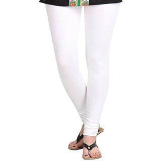 Women'sFashion Regluar Fit White  Legging