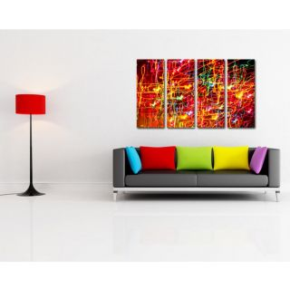 Esfore Contemporary  Stylish Printed Artwork/Painting - Colorful Swirls (With Stretched Print)