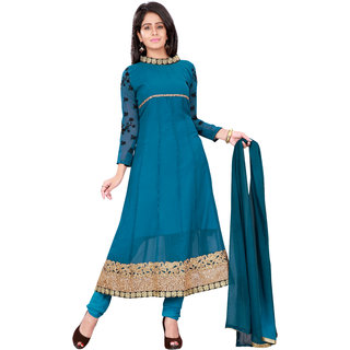 Aaina Blue Georgette Dress Material (SB-2480-OCT)