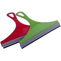 SNATCH4DEALS Rubber glass window wiper car wiper set of 2 assorted colour