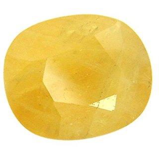 Om gyatri  Yellow Sapphire (Pukhraj) 6.00 Ratti Certified