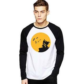 Batman Moon Comic Full sleeve T-shirt Black-White Colour Tee