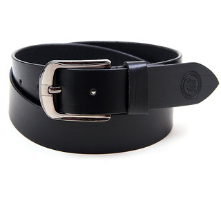 Harex Black Leather Formal Belts