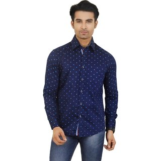 Big Brother Blue Button Down Full sleeves Casual Shirt For Men