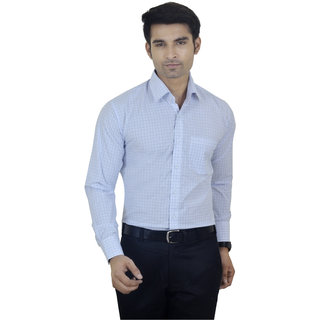 Big Brother Blue Button Down Full sleeves Formal Shirt For Men