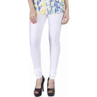 Mayoni White Solid/Plain Leggings