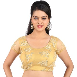 Freedom Design's Gold Embroidered  Blouse