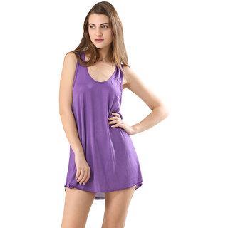 Trendy Solid Purple Colour Swimwear Bikini Cover Ups Beach Dress For Women.