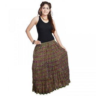 Multicolour Designer Girls Cotton Full Skirt