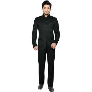 Lee Marc Single Breasted Solid Mens Suit