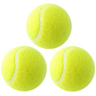 Cricket Tennis Ball - Yellow (Pack of 3) REMEMBER QUALITY