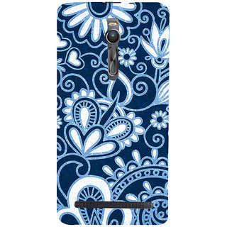 ifasho Animated Pattern design colorful flower in royal style Back Case Cover for Asus Zenfone2