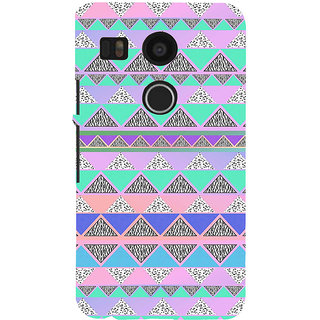 ifasho multi color 3Diangular Pattern Back Case Cover for Google Nexus 5X