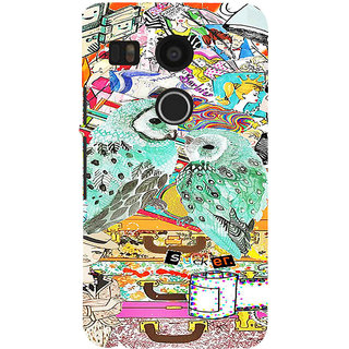 ifasho Girls and owl Back Case Cover for Google Nexus 5X