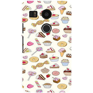 ifasho Animated food pattern Back Case Cover for Google Nexus 5X
