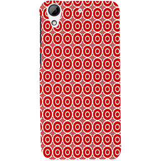 ifasho Animation Clourful white Circle on red background Pattern Back Case Cover for HTC Desire 728