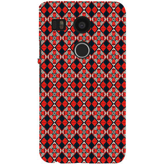ifasho Animated Pattern small red rose flower with black and red rectangle Back Case Cover for Google Nexus 5X
