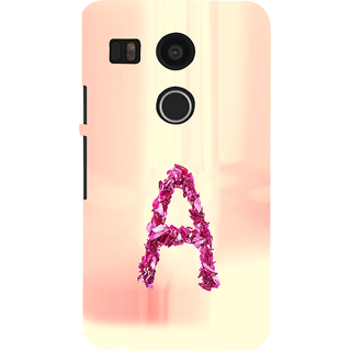 ifasho alphabet name series A Back Case Cover for Google Nexus 5X