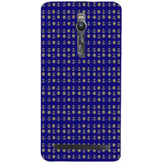 ifasho Modern Art Design Pattern with Lot Of small anchor and disc Back Case Cover for Asus Zenfone2