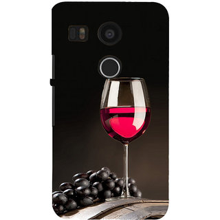 ifasho Wine at Dine Back Case Cover for Google Nexus 5X