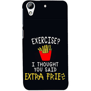ifasho Quotes on exercise Back Case Cover for HTC Desire 626