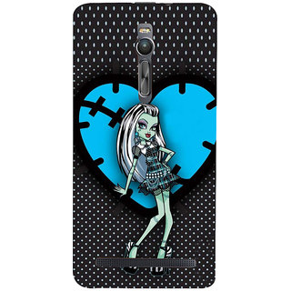 ifasho Crazy Girl Back Case Cover for Asus Zenfone2