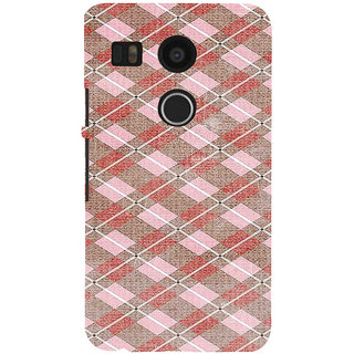 ifasho Design lines pattern Back Case Cover for Google Nexus 5X