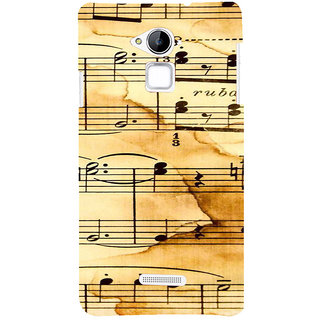 ifasho Animated Pattern design black and white music symbols and lines Back Case Cover for Coolpad Note 3