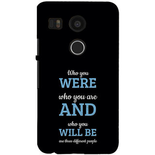 ifasho Philosophical Messge Back Case Cover for Google Nexus 5X