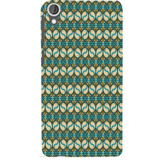 ifasho Animated Pattern design colorful flower in royal style with lines Back Case Cover for HTC Desire 820