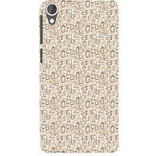 ifasho single color rectangle and circle and dots Pattern Back Case Cover for HTC Desire 820