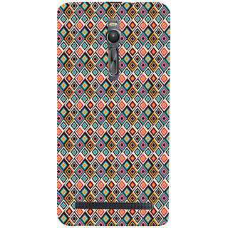 ifasho Animated Pattern design colorful in royal style Back Case Cover for Asus Zenfone2