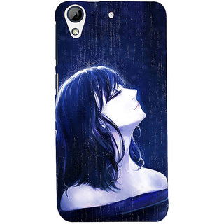 ifasho Girl in rain Back Case Cover for HTC Desire 728
